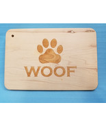 WOOF Inlay Maple Wood Cutting Board Crafty Yankee Paw Design Brown - $39.95