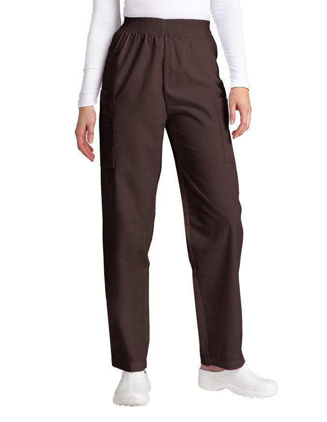 Adar Brown Elastic Waist Cargo Scrub Pants Uniform Nurse Ladies 503 2XL New