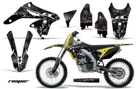 Dirt Bike Graphics Kit Decal Wrap For Suzuki RMZ250 RMZ 250 2010-2016 REAPER BLK - $168.25