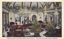 Court of Palace Hotel Interior San Francisco California 1910c postcard - $6.93
