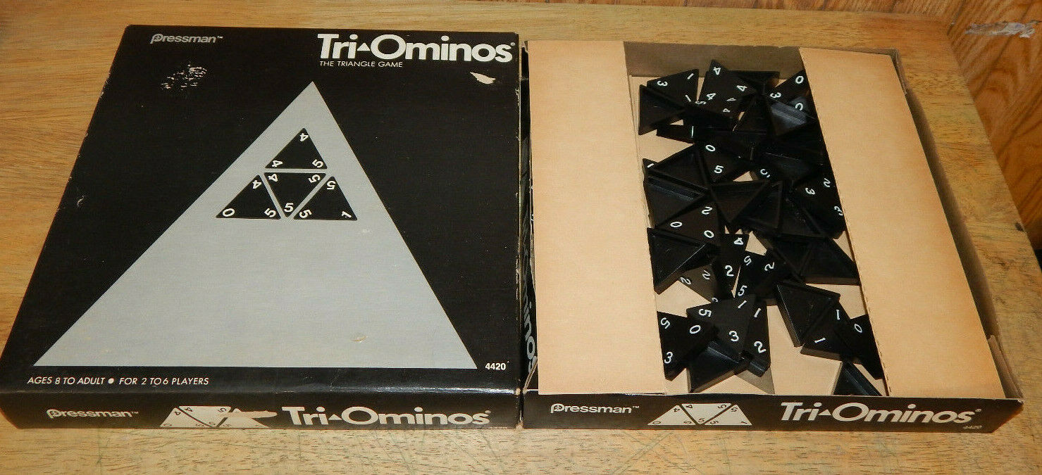 Primary image for Tri-ominos Triominos The Triangle Dominoes Game Complete Pressman