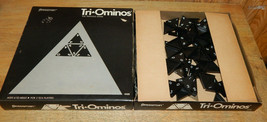 Tri-ominos Triominos The Triangle Dominoes Game Complete Pressman - $14.68