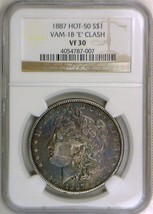 "1887 Morgan Dollar NGC VF-30; VAM-1B ""E"" Clash; Hot 50! - $692.99"