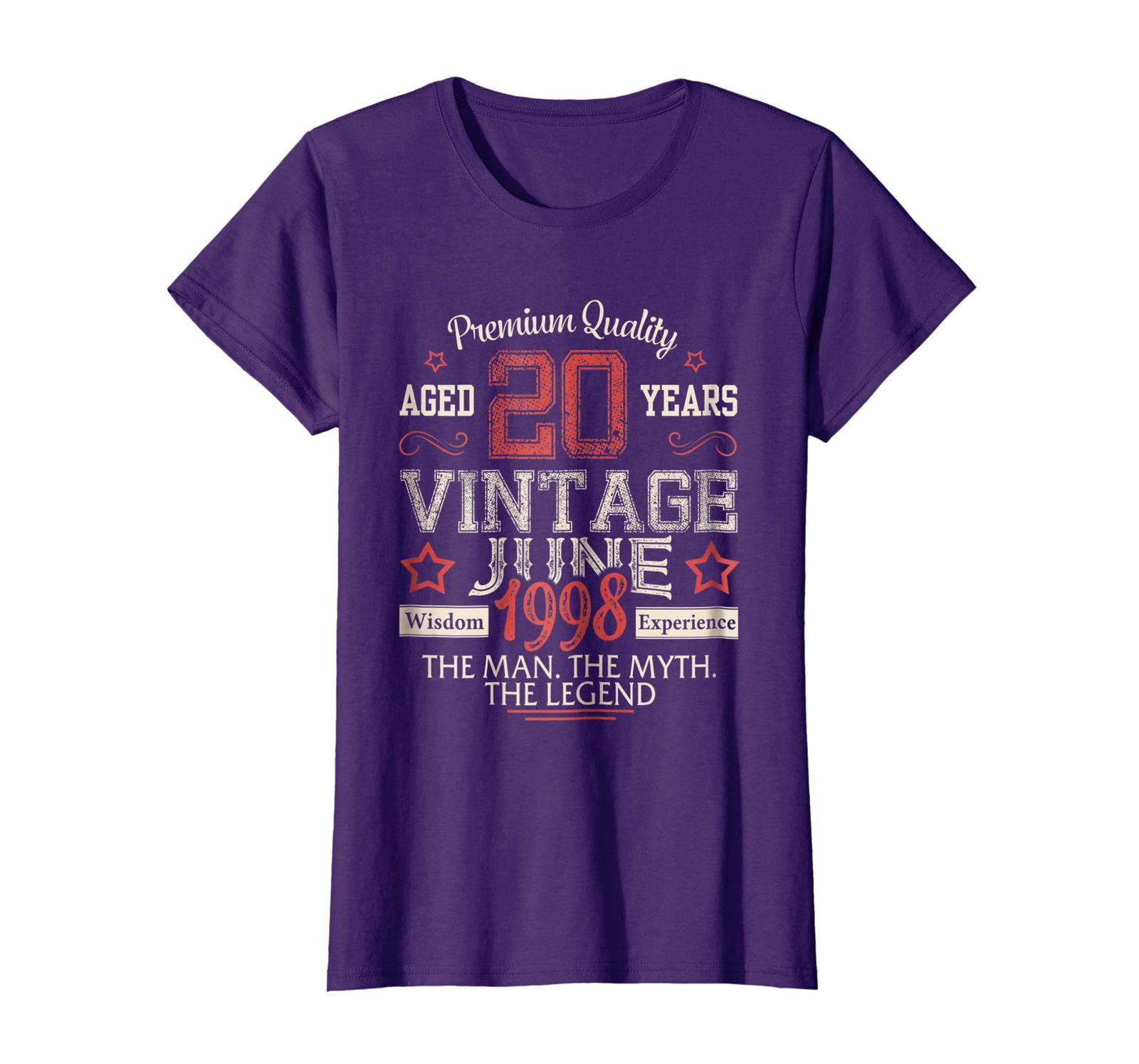 Uncle Shirts -   Vintage Legends Born In JUNE 1998 Aged 20 Years Old Being Wowen image 4