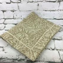 """Martha Stewart Pillow Sham Beige Floral Textured 100% Cotton Fits 19""""X23"""" - $19.79"""