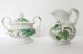 Seymour Mann Eda Creamer & Sugar bowl Morning Glory Japan 1978 Fine China - $35.98