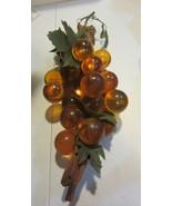 Vintage Amber Lucite  Cluster Grapes  MidCentury Modern - $166.25