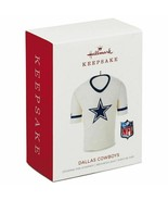 Dallas Cowboys NFL Jersey 2018 Hallmark Keepsake Christmas Ornament new ... - $17.52