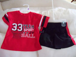 Faded Glory 2pc Set Black/Red Size 18 months Boy's NEW FREE USA SHIPPING - $17.99
