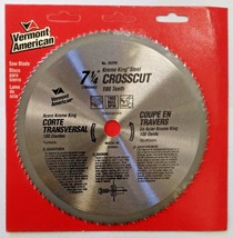 """Vermont American 25290 7-1/4"""" Krome King Steel Crosscut Saw Blade 100 Teeth - $5.94"""