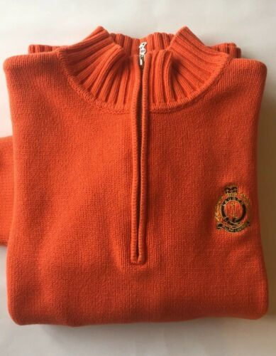 Ralph Lauren Brown Buttoned Mock-Neck Cotton Sweater-NWT