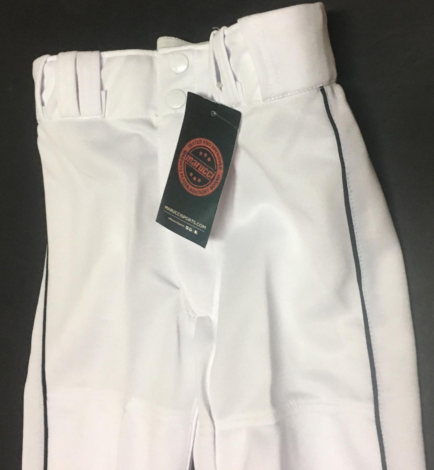 Marucci Youth Baseball Pants Youth Size Small NWT White w/Black Trim