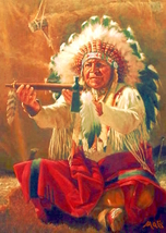 New for 2018. American Native Tribesmen greetings cards. CHIEF PACO PAYTAH. - $3.30