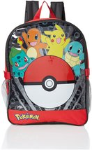 Pokemon Boys' Pocket 15 Inch Backpack with Lunch Kit, Red - $14.94