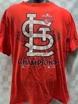 St Louis CARDINALS Baseball MLB 2011 National League Champions T-Shirt Size XL - $12.22