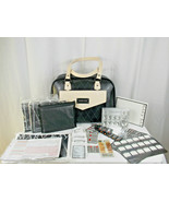 Mary Kay Deluxe Consultant  Leather Purse Cosmetic Travel Bag Tote w/ EX... - $19.79