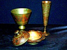 Vase, Chalice & Candle Holder AB 551 Vintage Etched image 5