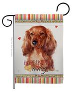 Long Hair Dachshund Happiness - Impressions Decorative Garden Flag G1601... - $19.97