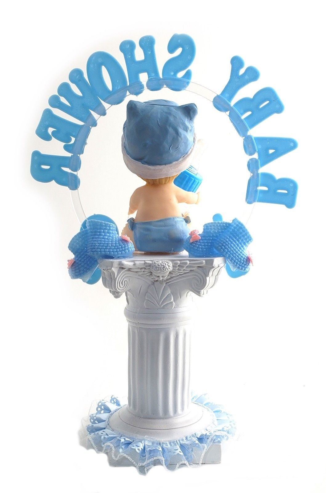 "Baby Boy Shower Centerpiece Balloon Weight Table Decoration Keepsake 15.5"" tall"