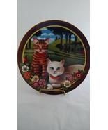 Uncle Tad's Cats Plate Peaches and Cream Anna Perenna Thaddeus Krumeich - $22.91