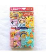 Girls Emojis Underwear Size 4 Briefs 100% Cotton (7 Pack) - $14.84