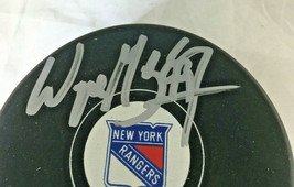 WAYNE GRETZKY / AUTOGRAPHED NEW YORK RANGERS LOGO OFFICIAL NHL HOCKEY PUCK / COA image 2