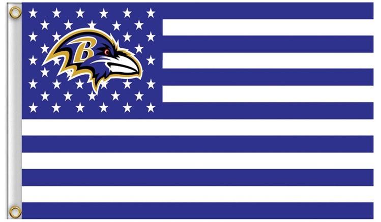 More ravens usa football flag nfl stars and stripes flag 120g 90x150cm polyester banner 100d  1