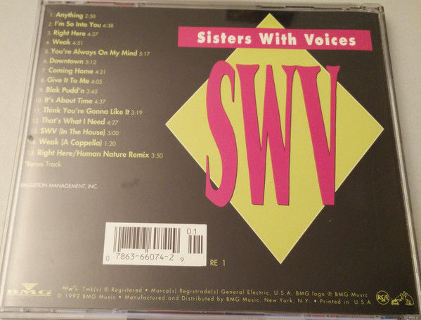 It's About Time by SWV (CD, Oct-1992, BMG (distributor))