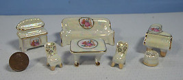 Japanese dollhouse miniature 'Made in Japan' porcelain furniture set dh3 c - $15.94