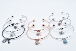 Key To My Heart Cuff Bracelets made with Swarovski Crystals Charm and Ke... - $20.00