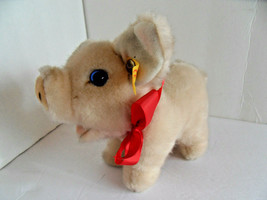 Steiff pig Piggy w.button flag  made in Germany 2539 - $45.59