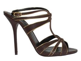 Brown Leather Ankle Strap Sandals - $385.00