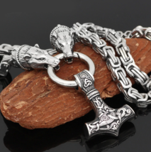 Berserker - Mjolnir Bears - Viking Necklace | Stainless Steel | Viking J... - $39.99