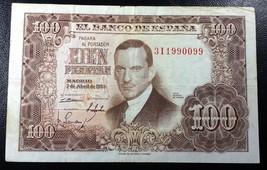 SPAIN: 1953, 100 Cien Pesetas, P-145 ** VF/XF**  España ◢ FREE COMBINED ... - $5.75