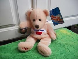 Quarter Cuddlers NWT Bean Bag Bear Georgia New stuffed Animal Toy  - $5.50
