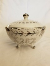 Lefton China Hand Painted #998 25th Anniversary Bowl With Lid - $2.48