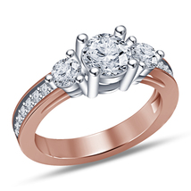 Fashion Women 14K Rose Gold Finish 925 Silver Jewelry Engagement Wedding... - $69.98