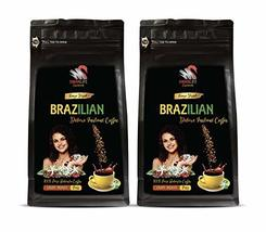 Pure Robusta Beans - Freeze Dried Brazilian Instant Coffee - Mood Booster - 2 Ba - $19.75