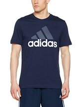 adidas Men's ESS Linear Logo Short Sleeve Tee Shirt (Navy, XL)