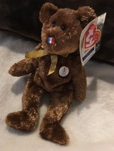 TY Beanie Baby Fifa World Cup 2002 Champion France Flag Nose Excellent Rare - $16.00