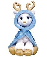 Build a Bear Golden Glisten White Reindeer Blue Cape 16in. Stuffed Plush... - $169.95