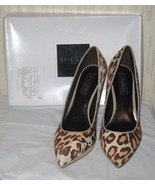 Spiegel Leopard Pony Hair Shoes Pumps Heels-Size 8M  - $42.08