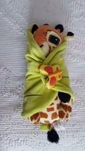 "11"" Plush Disneyland Babies Plush Baby Giraffe With Swaddle Blanky, Leaf Wrap - $9.50"