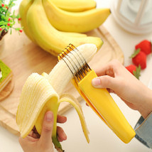 Halojaju Style Stainless Steel Banana Slicer Fruit Cutter - $15.95