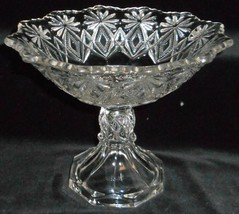 EAPG Shoshone - Blazing Pinwheels Pattern GLASS COMPOTE - $29.69