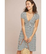 New Anthropologie Paladino Textured Dress by Maeve $138 Navy & White X-S... - $59.40
