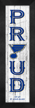 "St. Louis Blues ""Proud and Loyal"" - 8 x 24  Wood-Textured Look Framed Pr... - $39.95"
