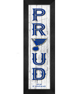 """St. Louis Blues """"Proud and Loyal"""" - 8 x 24  Wood-Textured Look Framed Pr... - $39.95"""