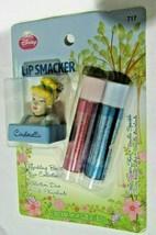 Lip Smacker Cinderella Key Chain 2 Lip Balms Spun Sugar Shine Vanilla Sparkle - $8.99