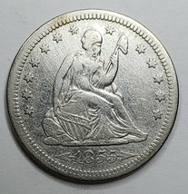 1855 United States Seated Liberty Quarter Dollar 25c Coin Lot A 152
